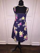 Ladies Lilly Pulitzer Blue Pink Yellow Dress Size 4