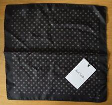 Paul Smith Unterschrift Streifen schwarz 100% silk pocket square Taschentuch