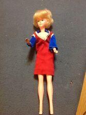 "Lovely Unmarked Vintage 12"" Hard Plastic Fashion Doll High-Color"