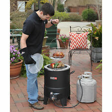 Outdoor Turkey Deep Fryer Gas Propane Grill Backyard Cooking Frying Pot No Oil