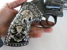 Mother of Pearl Inlay on hard wood Grip for S& W, K/L Frame Square Butt Revolver