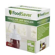 Food Saver Regular-Mouth Jar Sealer Re-Vacuums Mason Jars Lids Air-Tight Fresh