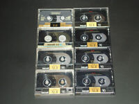 8 Maxell XL-II Type II Cr-O2 (Chrome) 90 min Cassette Tapes