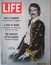 MAGAZINE LIFE de OCTOBRE 1970 ELEGANCE MASCULINE EGYPTE APRES NASSER POOL ART