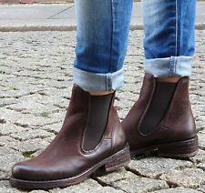 FELMINI Schuhe Braun C418 Morat Chocolate Damen Leder Chelsea Boot Stielelette