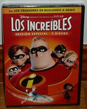 LOS INCREIBLES EDICION ESPECIAL 2 DVD DISNEY NUEVO ANIMACION (SIN ABRIR) R2