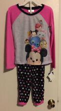 Girls-Size-8-Disney-Tsum-Tsum-Pajama-Sleepwear-Set-2-Pieces-Long-Sleeves-Pants