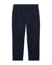 $165 Polo Ralph Lauren Young Boy's Navy Blue Slim Fit Casual Chino Pants Size 10