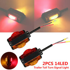 2PCS Truck Trailer Tail 14LED Light Stop Rear Parking Turn Signal Reverse Lamps