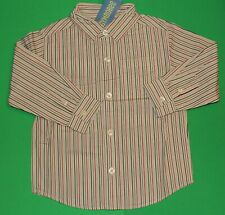 3t 3 Nwt Gymboree Holiday Classics Red Black Gray Striped Shirt Top Boys