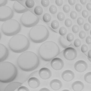 WHITE ROUND CIRCULAR 3M SELF ADHESIVE RUBBER FEET BUMPONS