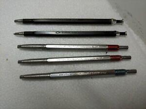 Vintage Lot Eberhard Faber USA Microtomic 607 Top Drafting Pencil Lead Holder +