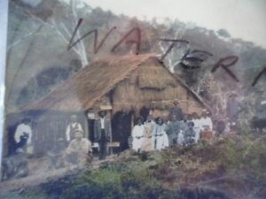 ANTIQUE VINTAGE OLD PHOTO POSTCARD ABORIGINAL FAMILY GROUP NORTH QUEENSLAND