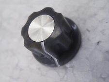 "19 mm gris plissé Silver Inlay Panneau Pot Knob Electronics 1/4"" 6.35 mm Grub CG24"