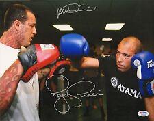 Royce Gracie & Alex DiCiero Signed 11x14 Photo PSA/DNA COA UFC Picture Autograph