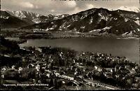 alte s/w AK TEGERNSEE Blauberge Hirschberg Alpen See Bayern ~1950/60 ungelaufen
