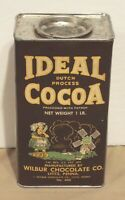 VINTAGE IDEAL COCOA 1 LB. COMPOSITE TIN (EMPTY) LITITZ, PA TALL SIZE