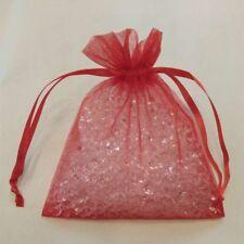 "60 Red 4 x 4.5""Organza Gift Bag Pouch Wedding Favor"