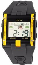 Digital-Armbanduhr Schwarz Gelb + Box Quarz Silikon Herrenuhr D-2400002003325