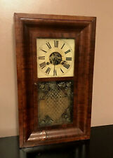 Terry & Andrews Clock Mantle Shelf Antique Mahogany Wood Painted Dial Glass
