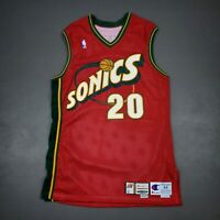 """100% Authentic Gary Payton Champion 2000 01 Sonics Game Issued Jersey 44+2"""" Mens"""