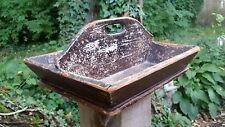 """Antique Knife Tray Cutlery Worn Chipped Paint Primitive Rustic 12"""""""