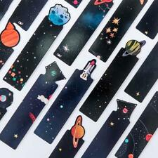 30pcs/set Flying to the Universe Planet Bookmarks Cards Tab for Books Stationery