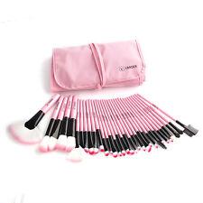 Vander 32Pcs Professional Pink Makeup Brush Set Soft Cosmetic LB Kit + Bag