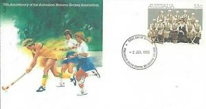 1985 33c 75th Anniversary Australian Women's Hockey Assocation FDC: