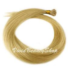 100 Stick I Pre Glue Tip Straight Remy Human Hair Extension Light Ash Blonde #22
