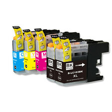 5PK Combo Printer Ink chipped for Brother LC101 LC103 MFC J470DW J650DW J870DW