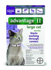 Bayer Advantage II Flea Prevention for Large Cats, Over 9 lb, 6 doses