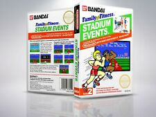 Family Fitness Stadium Events  - NES - Replacement - Cover/Case - NO Game