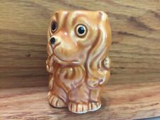 """Vintage Dog - Tiny Cocker Spaniel - w/ Opening at Top - ~2"""" high"""