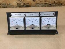 Lot Of 3 Gbt7676 98 Amp Current Meter Ammeter Gauge 85c1 0 1 Withpanel 86b40