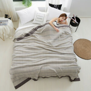 Blanket Summer quilt Bed cover Thick flat sheet cotton & bamboo towel blanket