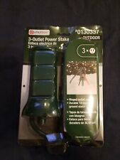 New listing New Utilitech Outdoor Yard Stake 3 Outlets Great for outdoor Inflatables Xmas