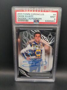 Chase Elliott 2020 Panini Chronicles #4 Nascar 15/15 Phoenix PSA 9