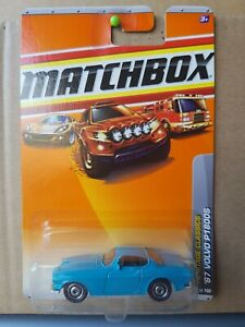 Matchbox 2011 - '67 Volvo P1800S [BLUE] VHTF CAR NEAR MINT, CARD GOOD