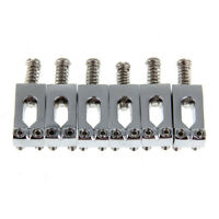 6pcs Chrome Flat Saddles for Fender Strat Electric Guitar tremolo Trem Bridge