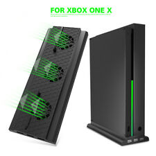 For Xbox One X Console Large Air Volume Cooling Fan 3 Ports Vertical Stand Dock