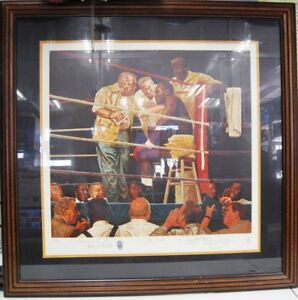 """Evander Holyfield """"THE CORNER"""" Brent Benger Signed Limited Edition Lithograph"""