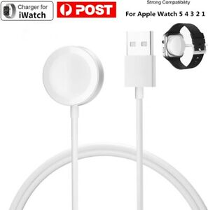 For Apple Watch iWatch 5 4 3 2 1 Magnetic Charger Charging Cable Metal Finish AU