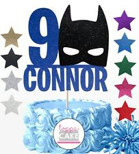 PERSONALISED BATMAN ANY NAME/AGE BIRTHDAY CAKE TOPPER