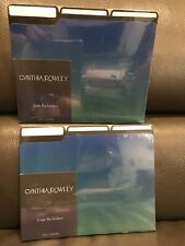 """TWO"" CYNTHIA ROWLEY 3 Tab file Folders QTY 6 Letter Size"