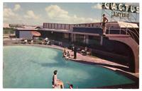 Vintage Postcard Cactus Motel San Luis Potosi Swimming Pool K2