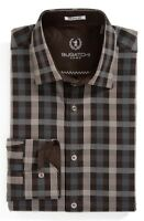 Bugatchi Uomo Shaped Fit Plaid Sport Shirt NWT S