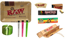 RAW MINI TRAY SMOKING SET 4 PART GRINDER HOLDERS MASTERPIECE PAPERS ROACH TIPS