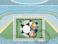 Mauretanien / Mauritanie Nr. Bl. 64 (881) Fußball WM 1986 in Mexiko