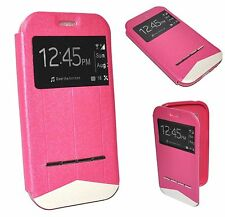 HOUSSE COQUE ETUI Intelligente View ROSE pour SAMSUNG GALAXY ACE 4